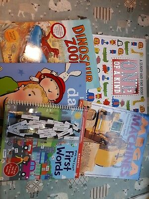 Bundle 5 X Preschool Books Magnetic words Dinosaurs Search And Find Mega...
