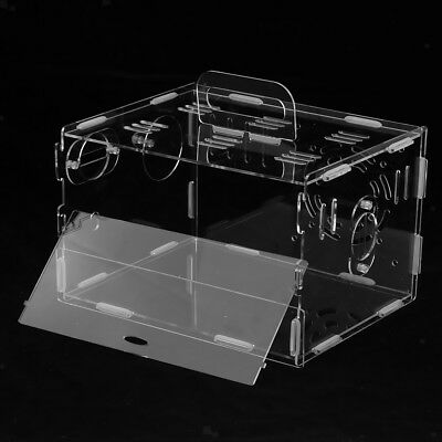 Acrylic Small Animals House Hut Hamster Gerbil Mouse Cage Box Transparent