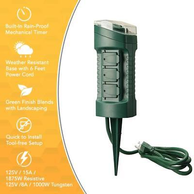 Outdoor Yard Stake with Photocell and Built-In Timer Woods 13547WD ...