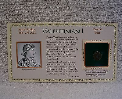 Coinage of Ancient Roman Emperor - Valentinian I  364 A.D. Genuine Bronze Coin