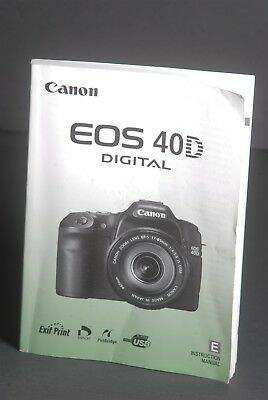 Canon Eos 40d Manual Pdf