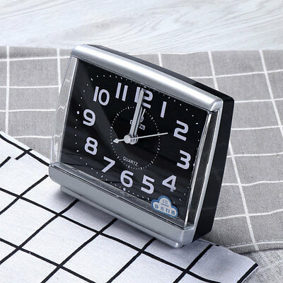 Small Simple Alarm Clock Bedside Travel With Snooze In The Dark Silent No Tick