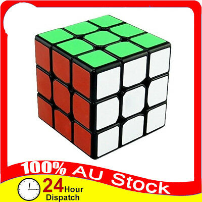 3x3x3 Magic Cube Super Rubiks Rubix Smooth Puzzle Fast Speed