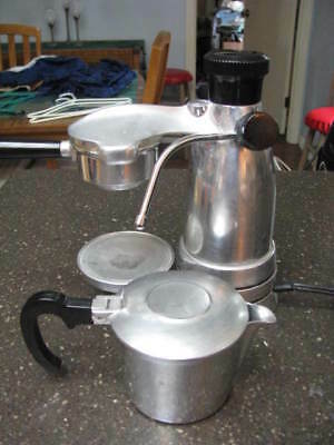 Vintage TESTED SALTON Italy EX-3 VESSUVIANO ESPRESSO COFFEE MAKER & FROTHER