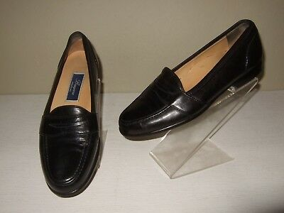 1559694e529 Bragano by Cole Haan Italy Black Leather Penny Loafers Slip-On Shoes Mens  Sz.