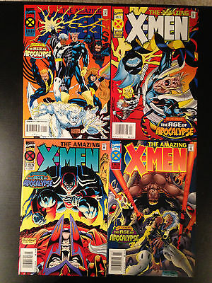 Amazing X-Men Comic Set #1-4 Marvel Comics Age Of Apocalypse Andy Kubert
