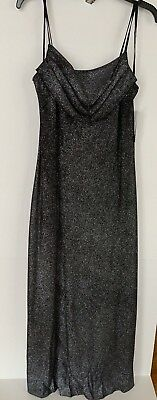 Nwt Karina Black Formal Gown Long With Spaghetti Straps Womens Size 14