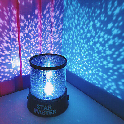 Fairy Star Universe Starry LED Projector Lamps Kids Baby Bedroom Night Light