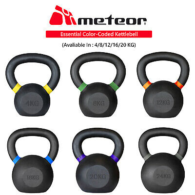 METEOR Heavy Duty Kettlebell Fitness Training Weight Gym Exercise Dumbbell