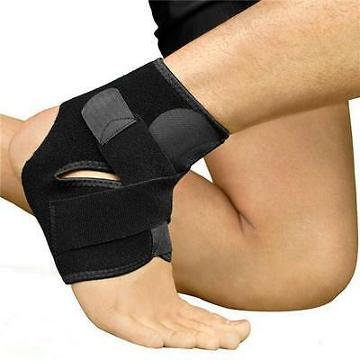 Ankle Elastic Compression Wrap Sleeve Bandage Sock Brace Support Protection FM
