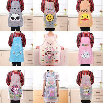 Home Women Waterproof Cute Cartoon Kitchen Restaurant Cooking Bib Apron B98B