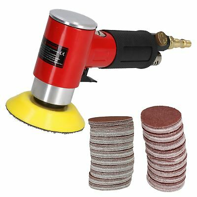 "2""& 3"" Mini Air Angle Grinder Polisher With Backing Pad + 200 Mixed Grit Discs"