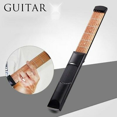 Portable Pocket Guitar Practice Tool Gadget Guitar Chord Trainer 4/6 Fret