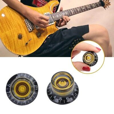 4x Acrylic Guitar Tone Speed Volume Control Knobs for Les Paul Electric Guitar