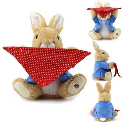 Soft Peek-a-Boo Rabbit Kids Play Plush Toy Stuffed Music Doll Gifts 30cm