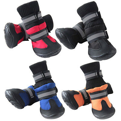 Pet Dog Rain Boots Protective Cotton Booties Puppy Non Slip Shoes Waterproof