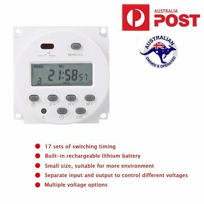 DC12V AC220V LCD Digital Programmable Timer Switch Time Relay 24 Hour Day Weekly