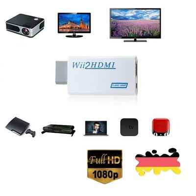 Wii auf HDMI Konverter Adapter Stick Upskaler 720p 1080p 60HZ Full HD TV Audio