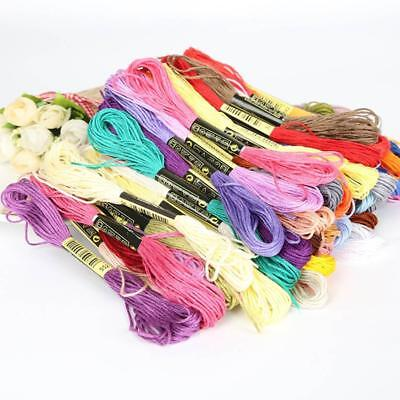 Multi-color 8 Pcs Similar Thread Cross Stitch Pearl Embroidery Sewing Thread