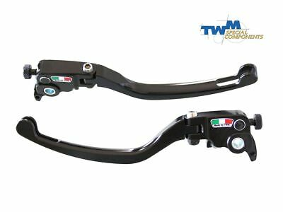 Pair Brake + Clutch Levers Twm Gp1 Adjustable Bmw S 1000 Rr / Hp4 2010-2018