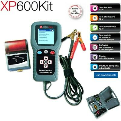 Tester Batteria Alternatore Massa professionale con stampante XP600kit