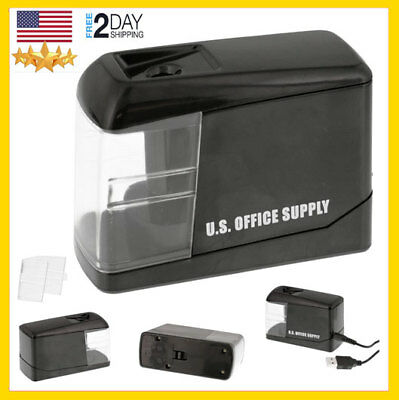 USB POWERED PENCIL SHARPENER Electric Pencils Sharpening Office Battery Operated