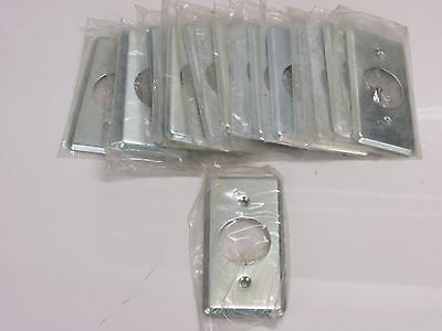 NOS! LOT of (17) 1-GANG MILL FINISH SINGLE ROUND RECEPTACLE WALL PLATE
