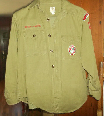 Vtg 1950s Official Boy Scouts Uniform - Shirt & Pants with Eagle Scout Patch