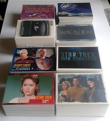 Complete Star Trek Trading Card sets TOS TNG Voyager Movies 50th Anniversary etc