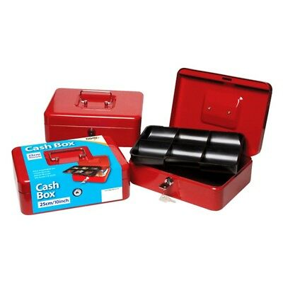 Tiger Cash Box With Keys - 10 Inch Red