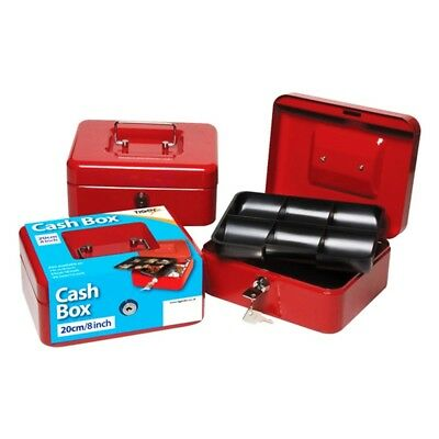 Tiger Cash Box With Keys - 8 Inch Red