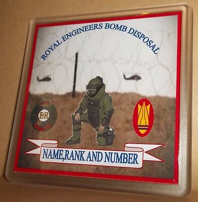Royal Engineers Bomb disposal coasters (pack of 4) free postage.
