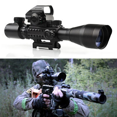 4-12X50 Tactical Riflescope with Holographic 4 Reticle Sight For Airsoft Hunting