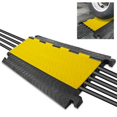 Pyle Cable Protector Ramp w/ Flip Access Lid (Five Extra Wide Channel Style)