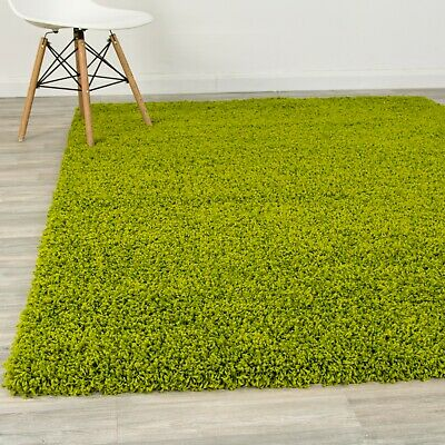 Soft Green Shaggy Rugs Luxury 5CM Pile Shag Rug Cosy Bedroom Area Carpets Runner