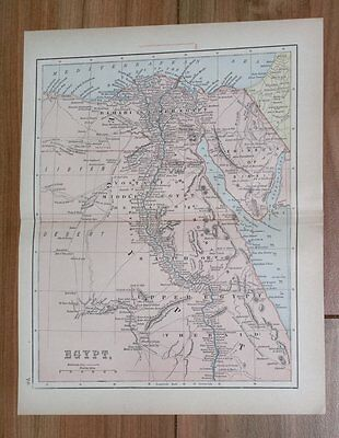 1894 Antique Map Of Egypt Nubia Sudan