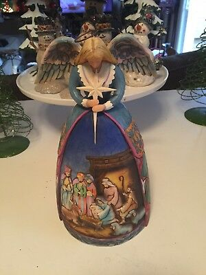 "Jim Shore Heartwood Creek ""A Star Shall Guide Us"" Angel Figure #4003273BS EUC"
