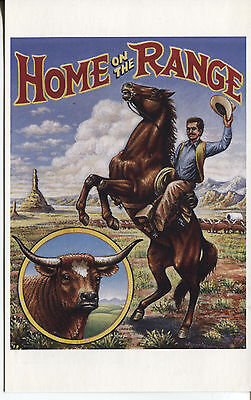 Legends Of The West Postal Card Home On The Range Unknown Cachet Unaddressed