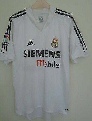 REAL MADRID HOME White Football Shirt 8 KAKA Adidas Size L - £29.99 ... 672e83826