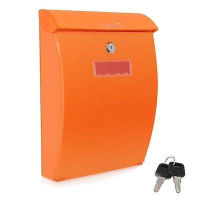 SereneLife Indoor/Outdoor Universal Modern Wall Mount Locking Mailbox