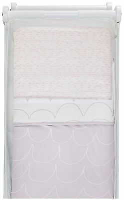Snuz COT /& COT BED FITTED SHEET GEO MONO SPRINKLE Nursery Cot Bedding BN