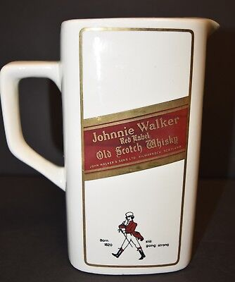 Vintage Johnnie Walker Red Label Old Scotch Whisky Whiskey Ceramic Pitcher Italy
