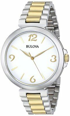 Bulova 98L194 Stainless Silver & Gold Tone Women's Watch $299 ~ GREAT GIFT