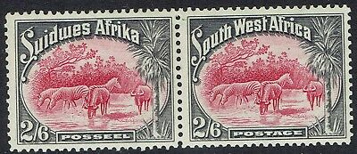 South West Africa 1931 Zebra And Buffalo 2/6 Pair