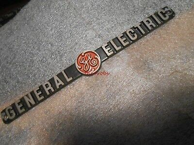 Vintage General Electric Cast Aluminum Sign Plaque