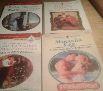 Harlequin Presents Lot of 4 (Used) Group A