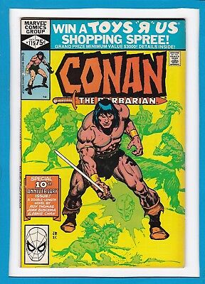 CONAN THE BARBARIAN #115_OCTOBER 1980_VERY FINE+_SPECIAL 10th ANNIVERSAY ISSUE!