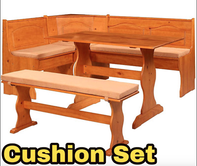 Breakfast Kitchen Nook Solid Wood Seat Dining Corner Bench Chelsea Cushion Set