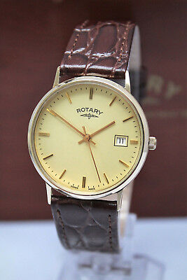 Rotary Precious Metals - Solid 9K Gold Mens Watch - Excellent-Boxed!-No Reserve!