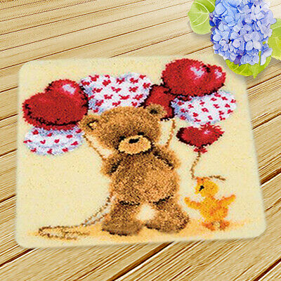 Latch Hook Craft Kits for Kids Animals Flowers Cushion DIY Needle Embroidery